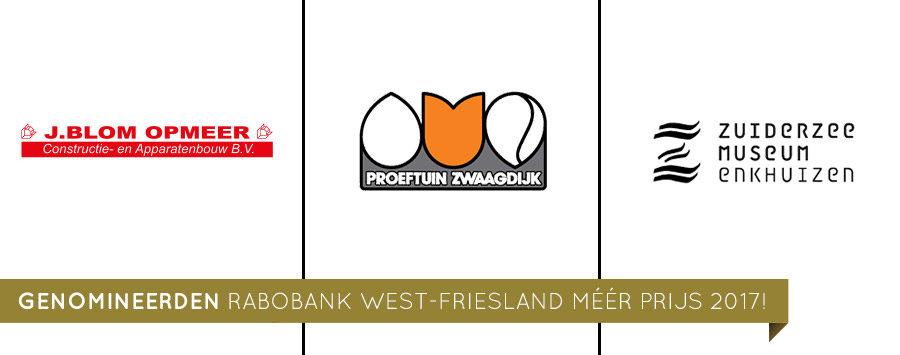 Genomineerden Rabobank West-Friesland Méér prijs 2017